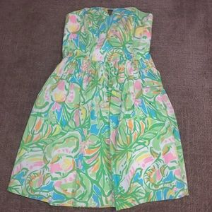Strapless Multi colored Lily Pulitzer Dress!